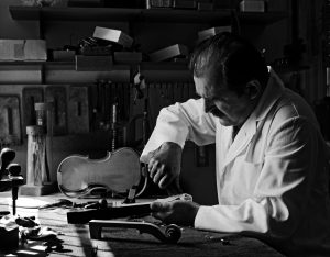 Joseph Kun at his workbench