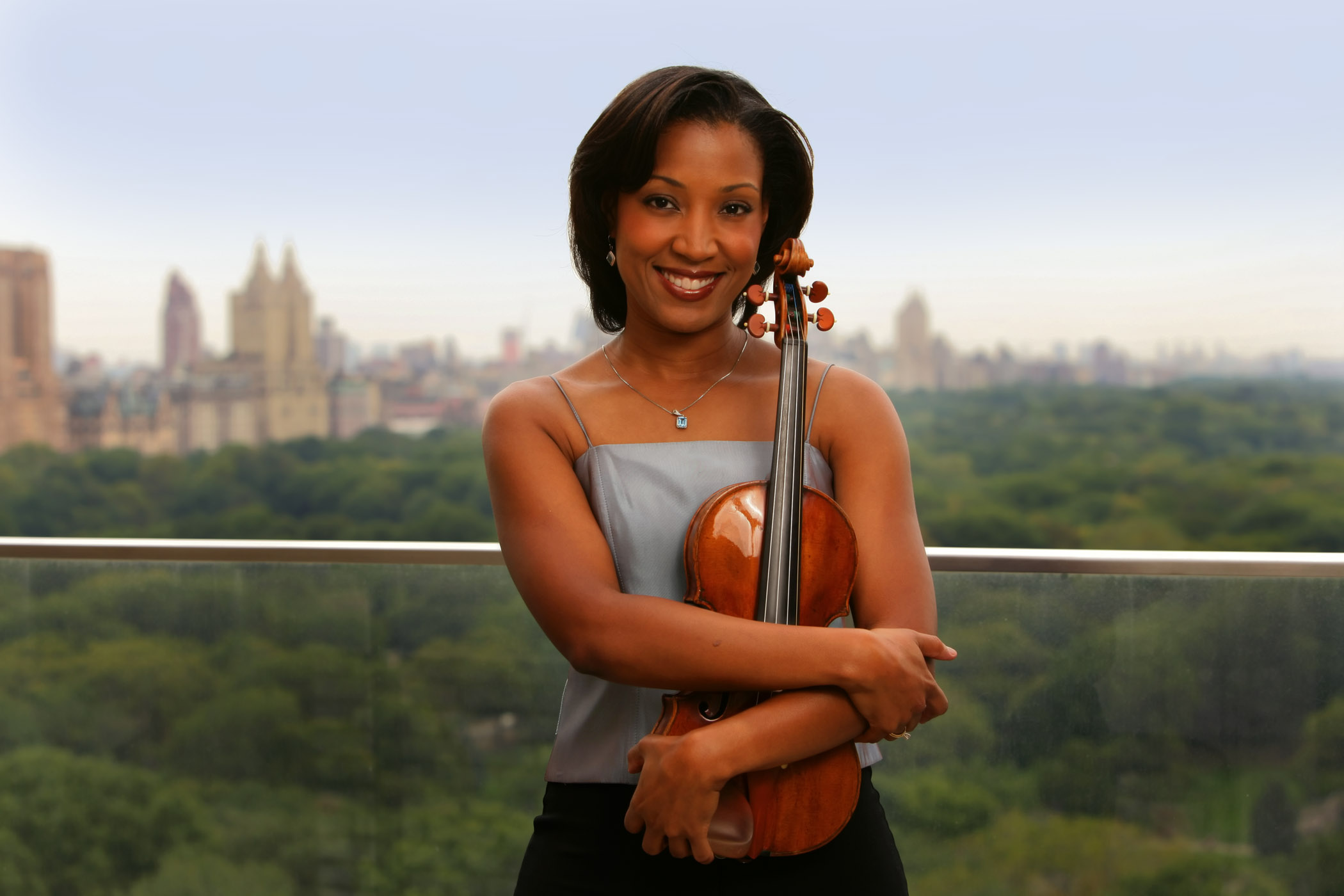 Kelly Hall-Tompkins with violin